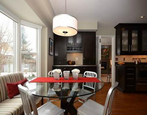 Transitional Dark Wood Kitchen